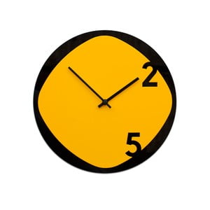 Hodiny Clock25 Yellow&Black