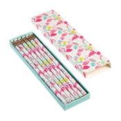 Set 5 creioane în cutie Rex London Flamingo Bay