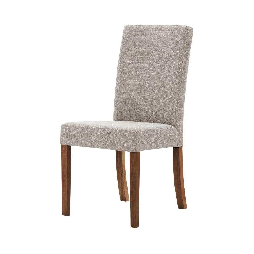 Šedohnědá židle s tmavě hnědými nohami Ted Lapidus Maison Tonka