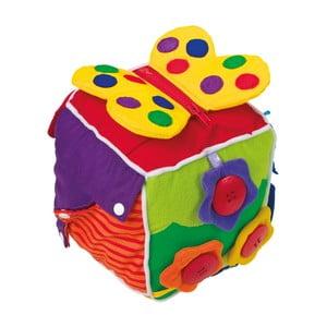 Plyšová kostka pro rozvoj motoriky Legler Baby's Cube