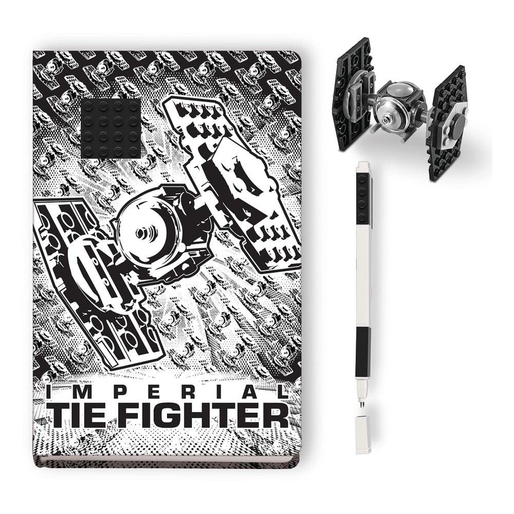 Sada zápisníku, pera astavebnice LEGO® Star Wars Tie Fighter
