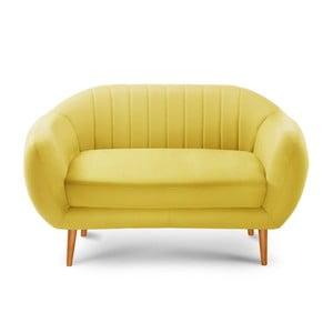 Canapea pentru 2 persoane Comete Stripes, galben