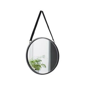 Kulaté závěsné zrcadlo s koženým řemínkem Native Round, ⌀ 40 cm