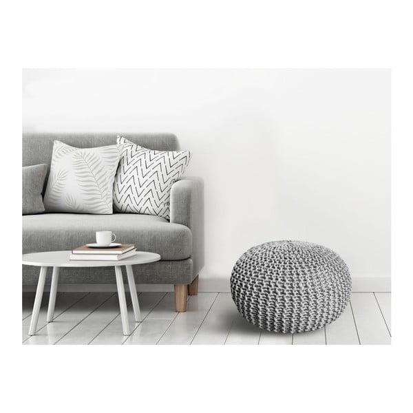 Puf Homemania Dedalo, ⌀ 50 cm, gri