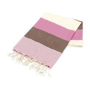 Hammam osuška American Stripes Pink, 100x180 cm