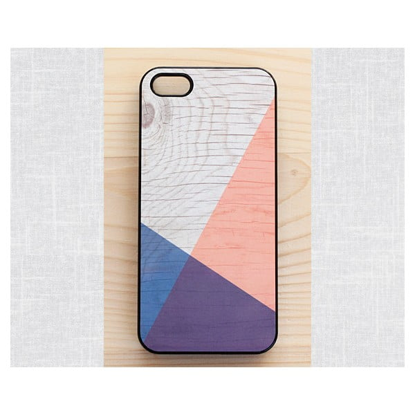 Obal na Samsung Galaxy S4, Geometric Wood/Black