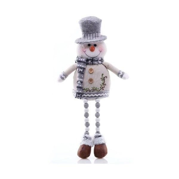 Statuetă de Crăciun în formă de om de zăpadă DecoKing Nevado, alb - argintiu
