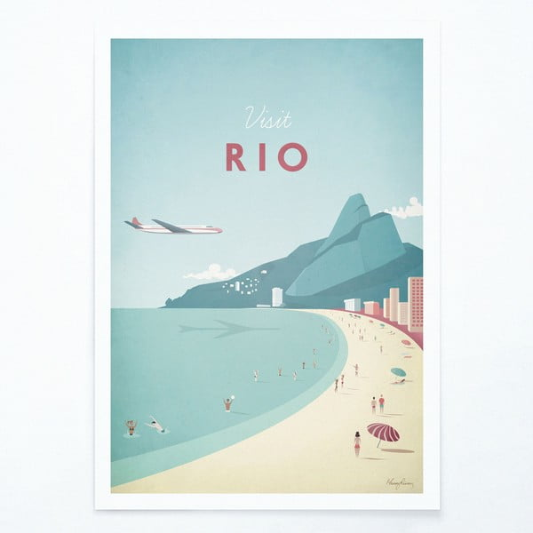 Plakát Travelposter Rio, A2