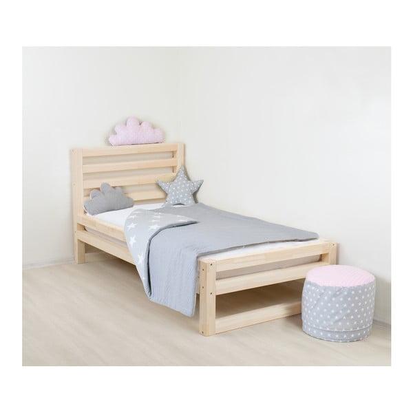 Detská drevená jednolôžková posteľ Benlemi DeLuxe Nativa, 160 × 70 cm