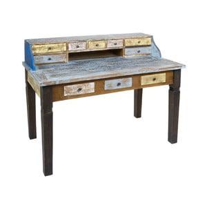 Psací stůl z mahagonového dřeva Santiago Pons Vintage