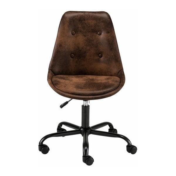 Hnědá kancelářská židle na kolečkách Støraa Dennis