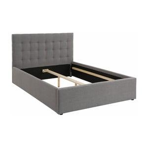 Šedá dvoulůžková postel Støraa Ajay, 140x200cm