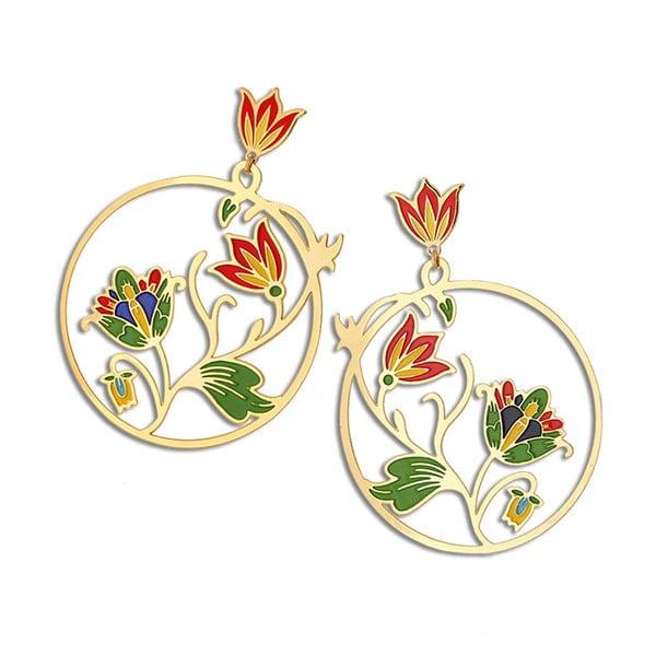 Náušnice od Petry Toth Malý kruh, barevné
