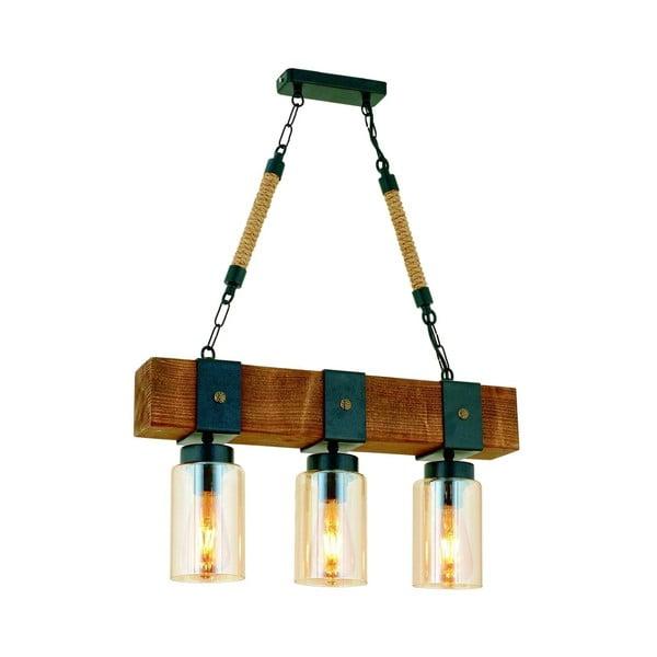 Lampa wisząca z drewna grabu Simona