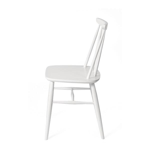Sada 2 bílých jídelních židlí z masivní břízy Woodman Aino