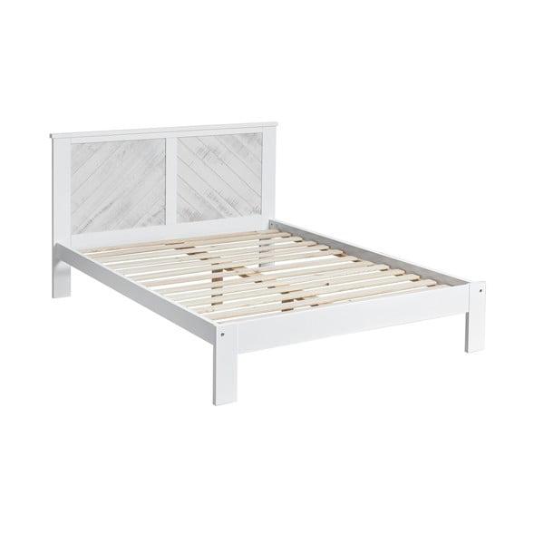 Bílá dvoulůžková postel Marckeric Roma, 140 x 190 cm