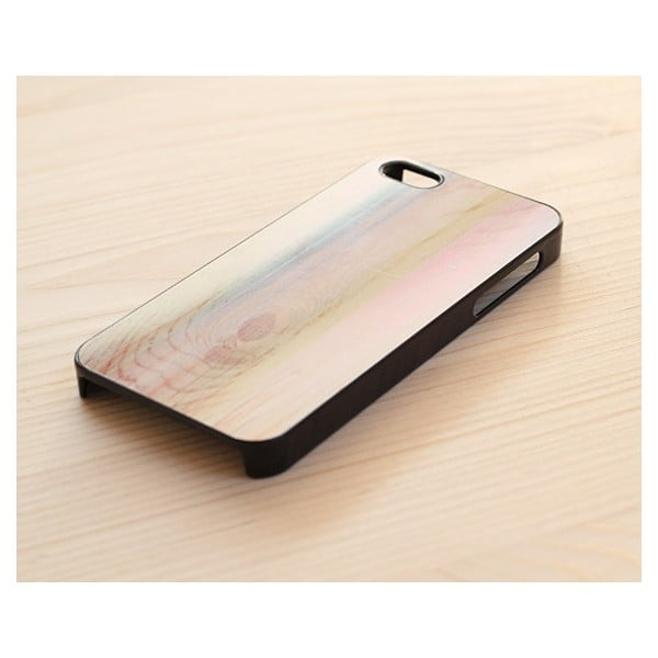 Obal na iPhone 4/4S, Pastel Omber Wood/black