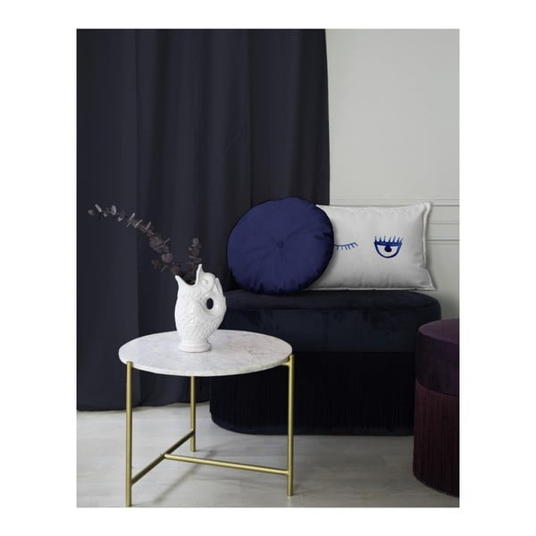 Bílý dekorativní polštář Velvet Atelier Lulu, 50 x 25 cm