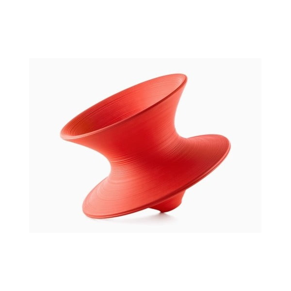 Červené křeslo Magis Spun, ø 91cm