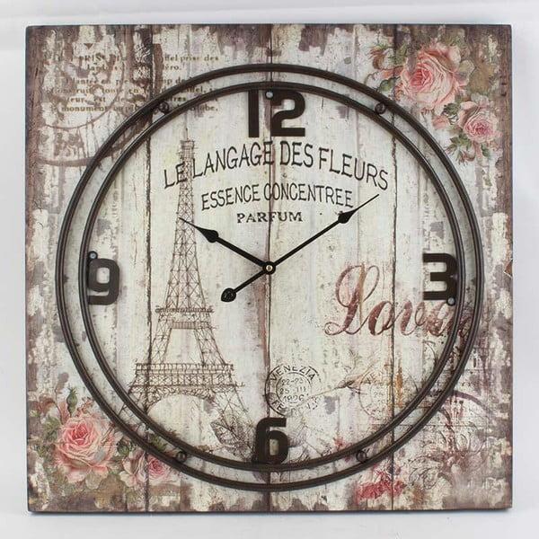 Hodiny Metal Eiffel, 60x60 cm