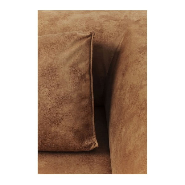 Koňakově hnědé křeslo Kare Design Elements, pravý roh