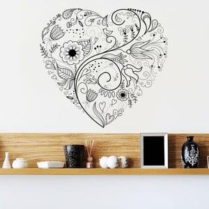 Samolepka na zeď From Heart, 90x60 cm