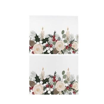 Set 2 șervețele de Crăciun din bumbac Butter Kings Fir Branches, 45 x 35 cm