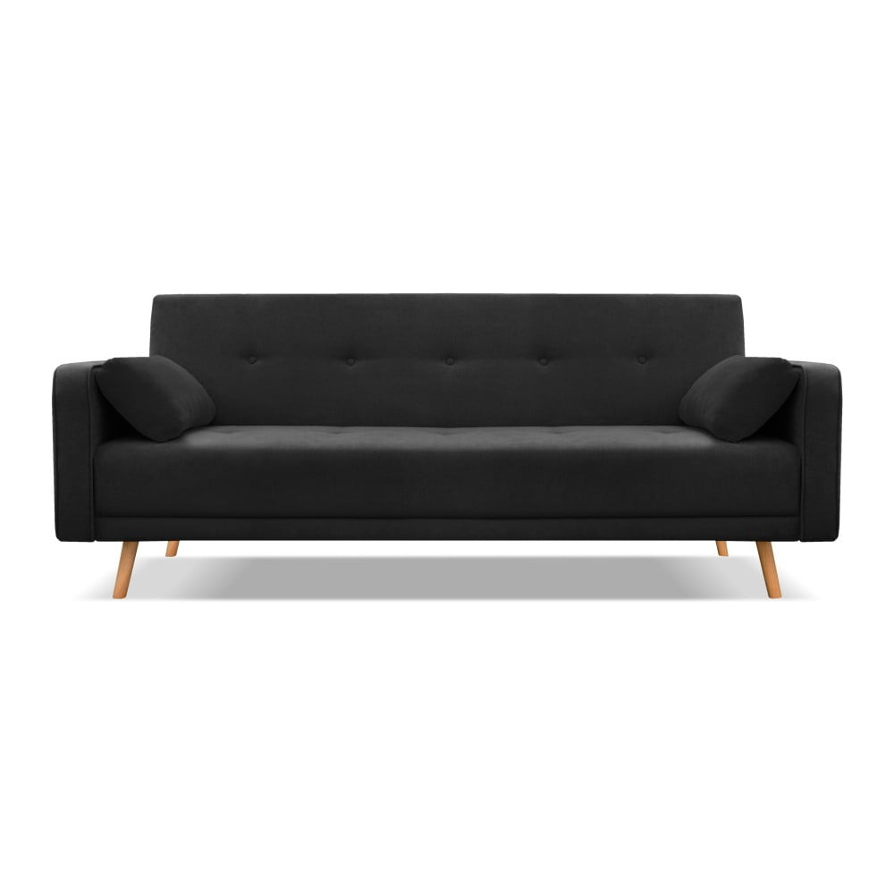 Černá třímístná rozkládací pohovka Cosmopolitan Design Stuttgart