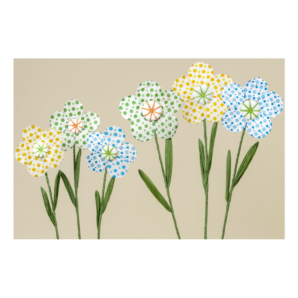 Sada 3 dekorativních papírových květin Boltze Dots