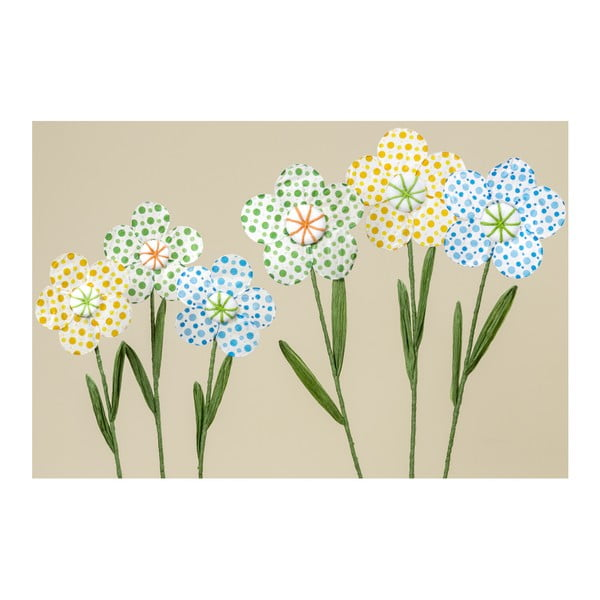 Set 3 flori decorative din hârtie Boltze Dots