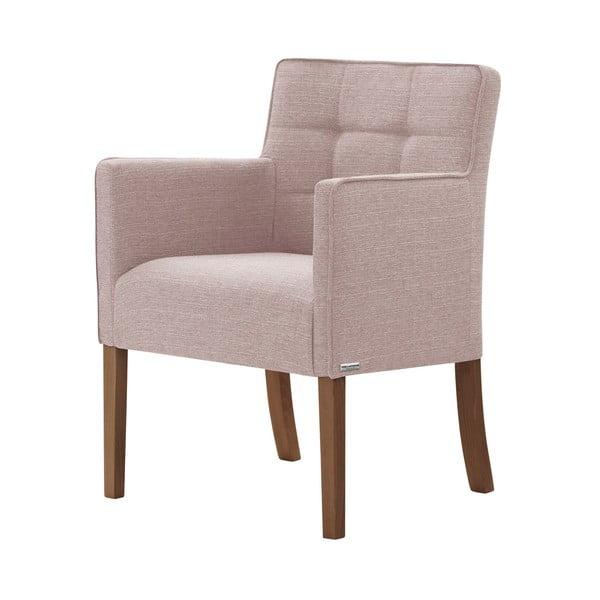 Svetloružová stolička s tmavohnedými nohami Ted Lapidus Maison Freesia