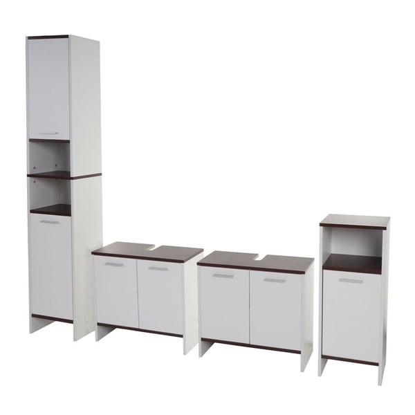 Koupelnová skříňka Sonoma Brown/White, 28x60x56 cm