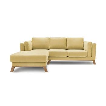 Canapea cu șezlong pe partea stângă Bobochic Paris Seattle, galben