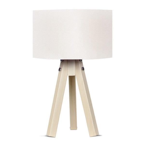 Stolová lampa s bielym tienidlom Kate Louise Naturel