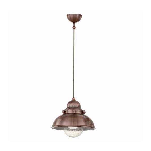 Závěsné světlo Crido Loft Copper, 29 cm
