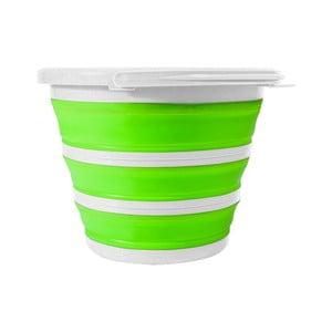 Zeleno-bílá skládací dóza JOCCA