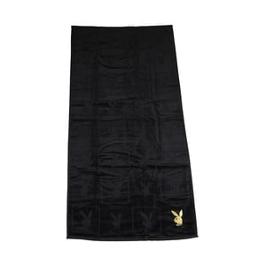 Osuška Playboy Monogram Black, 70x140 cm
