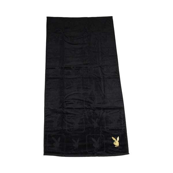 Osuška Playboy Monogram Black, 70x140 cm