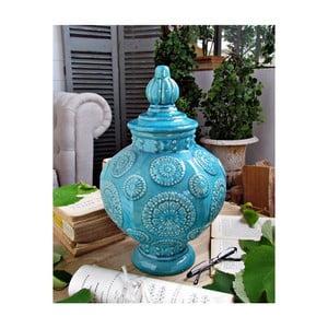 Modrá keramická váza Orchidea Milano Potiche