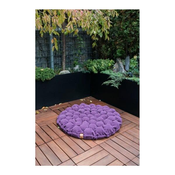 Béžový sedací polštářek s masážními míčky Linda Vrňáková Bloom, Ø75cm