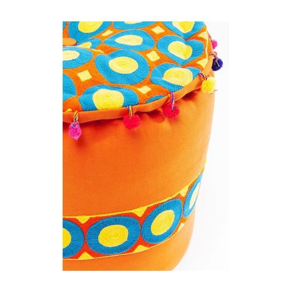 Oranžová stolička Kare Design Flick Flack, ⌀45cm