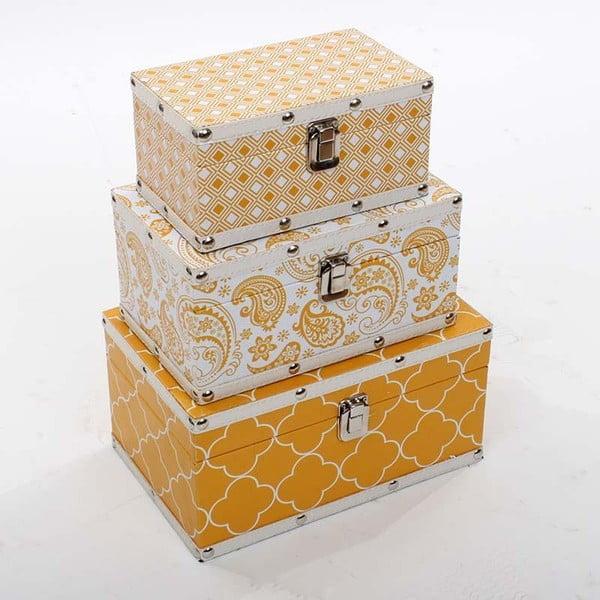 Tři úložné krabice Zlaté Slunce