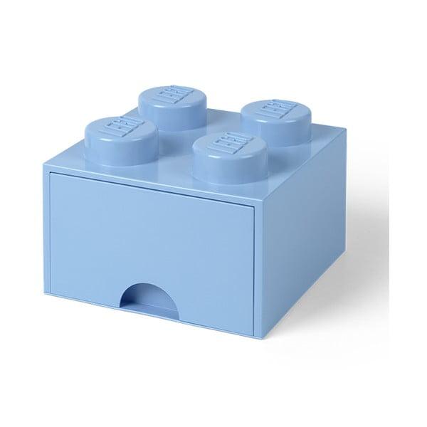 Négyszögeletes világoskék tárolódoboz - LEGO®