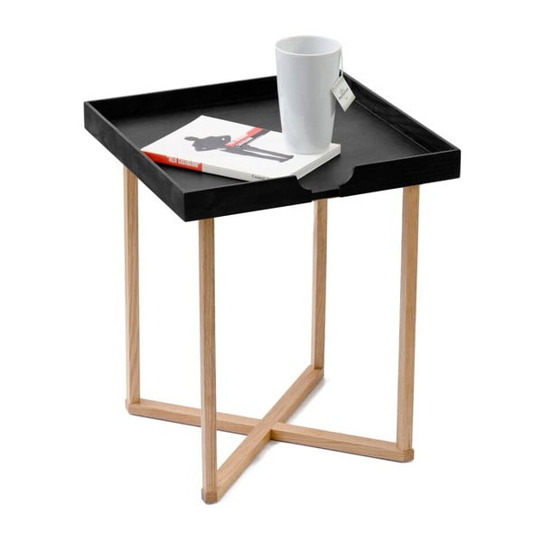 Odkladací stolík v čiernej farbe Wireworks Damieh, 37x45cm