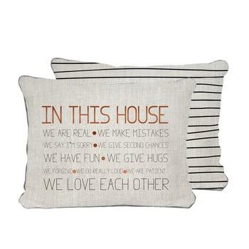 Față de pernă reversibilă Really Nice Things House, 45 x 45 cm imagine