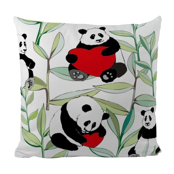 Polštář Panda With Bamboo, 50x50 cm