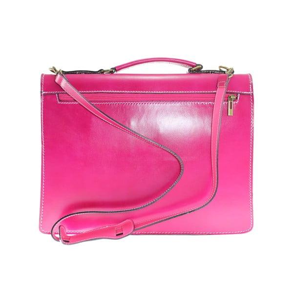 Kožená kabelka/kufřík Brachetto, fuchsiová