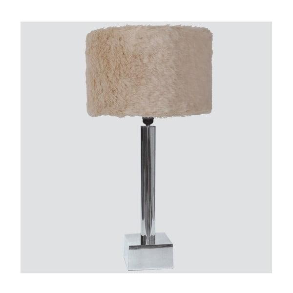 Stolní lampa s kožešinkou Bosco