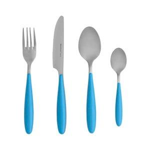 4dílný set příborů s modrou rukojetí Brandani Ginger