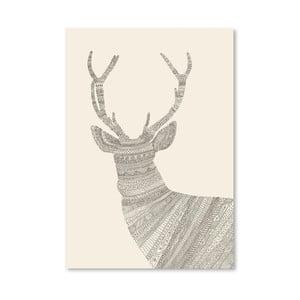 Plakát Stag od Florenta Bodart, 30x42 cm